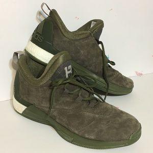 11.5 Green Suede Adidas Crazy light James Harden